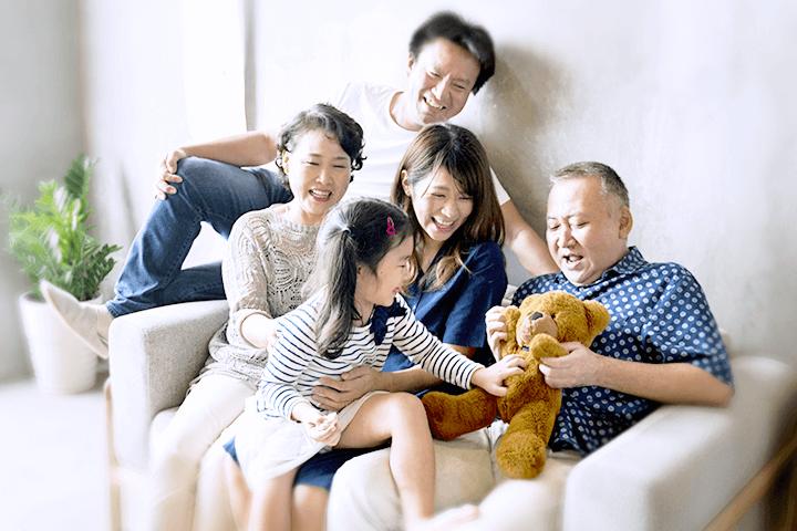 仲のよい家族